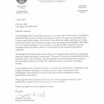 Letter from Nevada State Museum thanking CCNGS for donating historic photographs.